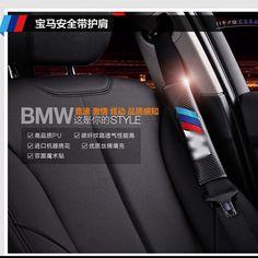car styling ,free shipping Carbon Fiber Seat Belt Cover Shoulder Pad fit for BMW M e46 e39 e36 e60 e90 e34 f30 e30 f10 emblem