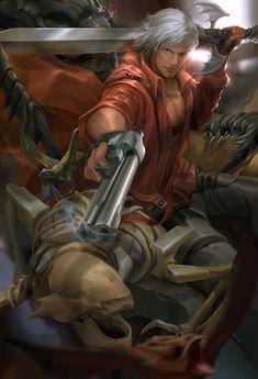 Devil may cry fan art - Dante by derrickSong on DeviantArt Fantasy Heroes, Sci Fi Fantasy, Ryu Hayabusa, Dante Devil May Cry, Street Fights, Marvel, Geek Girls, Epic Games, Video Game Art