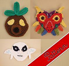 Crocheted Legend of Zelda Deku, Zora, and Majora's Mask / Masks Pattern