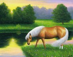 GOLDEN SUMMER EVENING.....this stallion is enjoying a summer evening filled w the golden light of the setting sun
