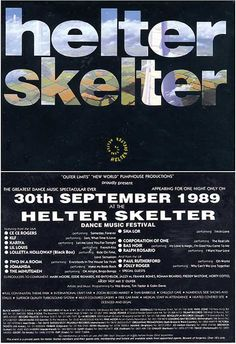 Helter Skelter 30th September 1989 - Ce Ce Rogers, KLF, Lil Louis, Loleatta Holloway