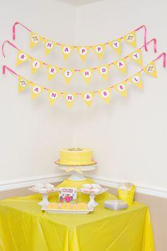 Little Miss Sunshine Cake Table