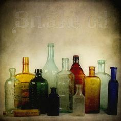Would love to have a collection of old colored bottles!