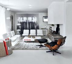 Voilà un savoureux mélange de styles dans ce salon original !