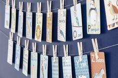 Alphabet cards make the perfect nursery wall decor  Design by Farnia Designs