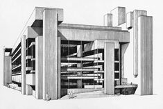 Yale Art and Architecture Building (Rudolph Hall) / Paul Rudolph – / New Haven, Connecticut - USA. Organic Architecture, Contemporary Architecture, Architecture Details, Louis Kahn, Philip Johnson, The Long Voyage Home, Paul Rudolph, Connecticut Usa, Building Costs