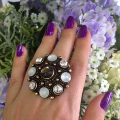 Destaque do dia: Anel Mandala Black Topázio www.artdecobijoux.com.br #anel #anelmandala #mandala #acessorios #acessoriosfemininos #bijoux #artdecobijoux #artdeco