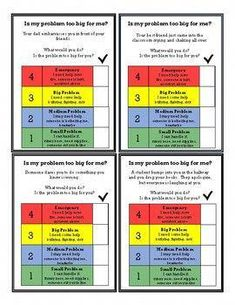 """""""Is My Problem Too Big For Me?"""" Problem Solving and Social Skills Task Cards Elementary School Counselor, Elementary Education, School Counseling, School Ot, Group Counseling, Importance Of Time Management, Online Programs, Education And Training, Task Cards"""