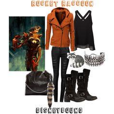 """""""Rocket Raccoon Disneybound"""" by capamericagirl21 on Polyvore"""