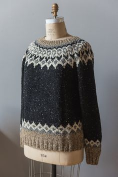Brendan pattern by Courtney Kelley Ravelry: St. Brendan pattern by Courtney Kelley Fair Isle Knitting Patterns, Sweater Knitting Patterns, Hand Knitting, Icelandic Sweaters, Knit In The Round, How To Purl Knit, Nordic Sweater, Knitting Projects, Stitch Patterns