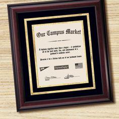 top black studio wood black  frame Two 11x8.5 openings diploma frame