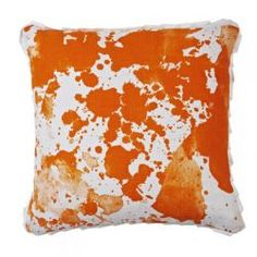 watercolour orange cushion $155.00