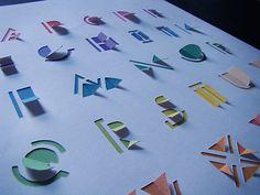 Handmade Fonts Dimensional Folding by Steven Robertson