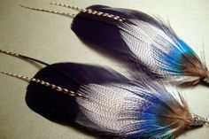 BlackGooseFeather Earrings by GirlCandyDesigns on Etsy, $15.95