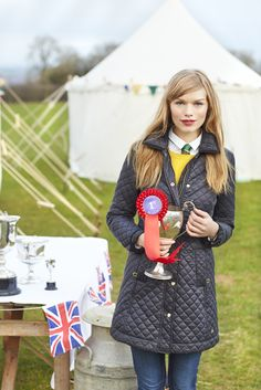 Awesome look from Joules. Warm and preppy: perfect for those cold and gloomy show days! Country Fashion, Country Outfits, Country Girls, Equestrian Chic, Equestrian Fashion, Country House Outdoor, Red Wellies, British Country Style, Preppy Style