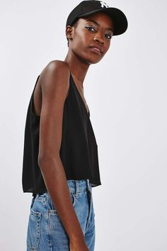 Cropped Double Strap Cami - Topshop
