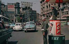 Karaköy square 1960's. Istanbul. Turkey