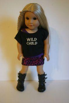 Wild Child collection in purple 3 piece set by MiniMeDollyDivas, $25.00