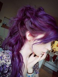 If purple/burgundy were natural hair colors, this is what it would look like. Nicely done!