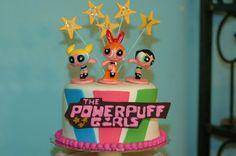 powerpuff girls round cake