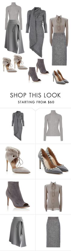 """""""50 shades of grey"""" by ellenfischerbeauty ❤ liked on Polyvore featuring Vivienne Westwood Anglomania, Acne Studios, Salvatore Ferragamo, Valentino, Gianvito Rossi, Chicwish, valentino, grey, ROCKSTUD and Aquazzura"""
