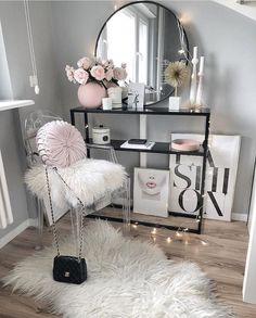 fashion, pink lips DIY Makeup Room Ideas, Organizer, Storage and Decorating Beauty Room, Room Inspiration, Glam Bedroom, Glam Room, Bedroom Decor, Girl Room, Home Decor, Room Decor, Apartment Decor