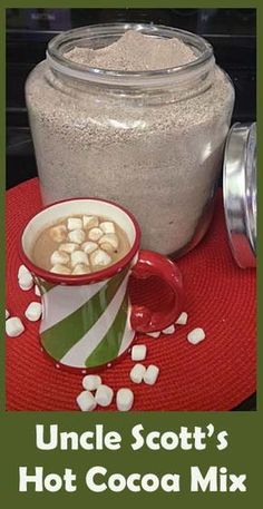 Easy Hot Cocoa Mix- my kids LOVE this, (you can customize your flavor with the added instant creamer!)