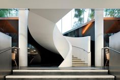 Francis-Jones Morehen Thorp Surry Hills Library and Community Centre FJMT A As Architecture, Sustainable Architecture, Sustainable Design, Spiral Stairs Design, Stair Design, Community Places, Stairs To Heaven, Building Management, Modern Staircase