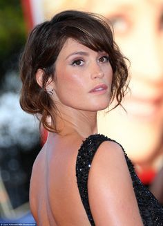 Natural beauty: The British star, who rose to fame in the Bond franchise, was on fine fashion form at the event