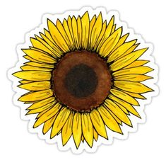 High quality Sunflower gifts and merchandise. Inspired designs on t-shirts, posters, stickers, home decor, and more by independent artists and designers from around the world. Stickers Cool, Red Bubble Stickers, Tumblr Stickers, Phone Stickers, Printable Stickers, Happy Stickers, Macbook Stickers, Aesthetic Stickers, Sticker Design