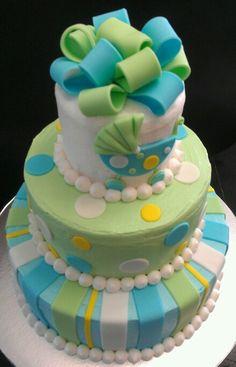 Boy Baby shower cake