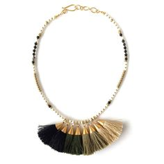 Penh Lenh Green Ombre Tassel Necklace