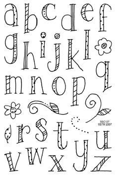 How To Draw The Alphabet In Cool Letters  Google Search  Fonts