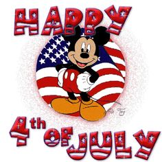 mickey mouse fourth of july birthday