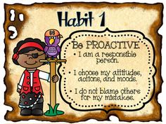"""7 Habits of """"Leader in Me"""" Pirate Theme Posters"""