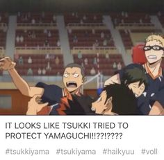 Haikyuu TsukkiYama OMG I thank you for noticing now this is official. Tsukishima X Yamaguchi, Haikyuu Tsukishima, Haikyuu Funny, Haikyuu Fanart, Kagehina, Daisuga, Haikyuu Volleyball, Volleyball Anime, Inuyasha