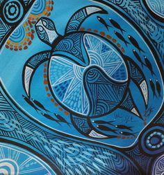 Aboriginal Art Animals, Aboriginal Dot Art, Aboriginal Painting, Aboriginal Culture, Aboriginal Artists, Dot Painting, Australian Aboriginals, Sea Turtle Art, Pinstriping