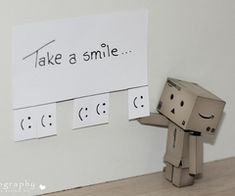 :)----- these are the cutest photos --- what sweet, simple way to brighten someone's day with a smile (even when you're not around )