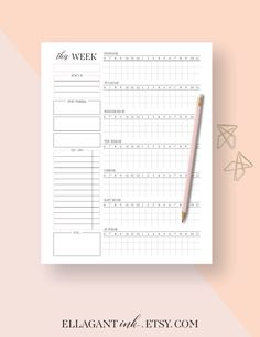Assignment Planner Page A  A Student Planner Printable
