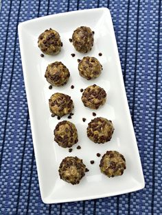 These No-Bake Chocolate Chip Energy Bites are just the right amount of sweetness with added protein and fiber for a delicious satisfying snack. #Choctoberfest