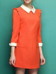 Orange Shift Dress   Choies
