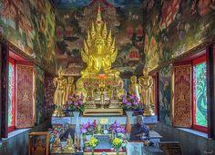 2012 Photograph, Wat Nak Prok Phra Wihan Interior, Pak Khlong Phasi Charoen, Phasi Charoen, Bangkok, Thailand, © 2017. ภาพถ่าย ๒๕๕๕ วัดนาคปรก ด้านใน พระวิหาร ขว.ปากคลองภาษีเจริญ ข.ภาษีเจริญ จ.กรุงเทพฯ ประเทศไทย