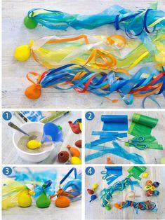 Ein tolles selbstgemachtes Spielzeug für Sommerfeste, z. B. die Kindergeburtstagsparty im Garten. Am besten auf einer großen Wiese schwingen, werfen und fangen.