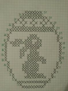 Filet Crochet, Crochet Doilies, Cross Stitch Sea, Chicken Scratch Embroidery, Easter Cross, Chrochet, Applique Designs, Cross Stitching, Easter Eggs