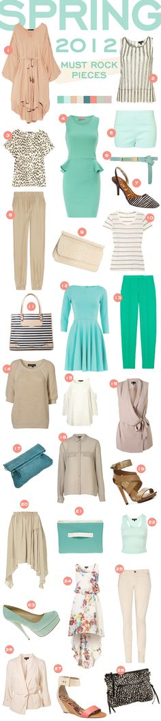 lovely spring colours...neutrals...mint...peach...beautiful!