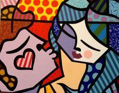 PAINEL SWEET KISS - Romero Britto