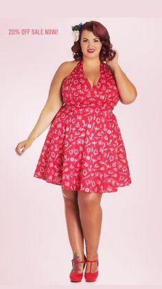 f117808cbab4 Hell Bunny Marin Nautical Print Halter Mini Dress Sizes S-4X