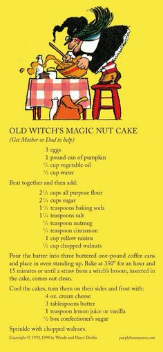 Old witch Magic nut cake