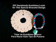 Kumimari 13: Handmade Kumihimo Loom/ Telar Casero de Kumihimo - YouTube
