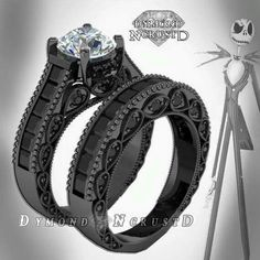 Wedding Rings jack skellington inspired